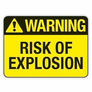 Warning-Explosion
